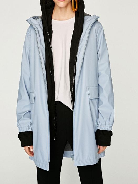 Solid Waterproof Hooded Parka