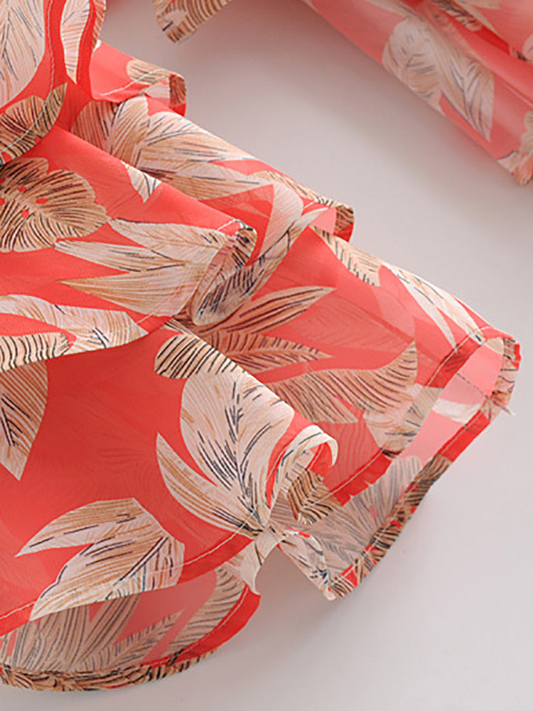 Escape Leaves Print Top