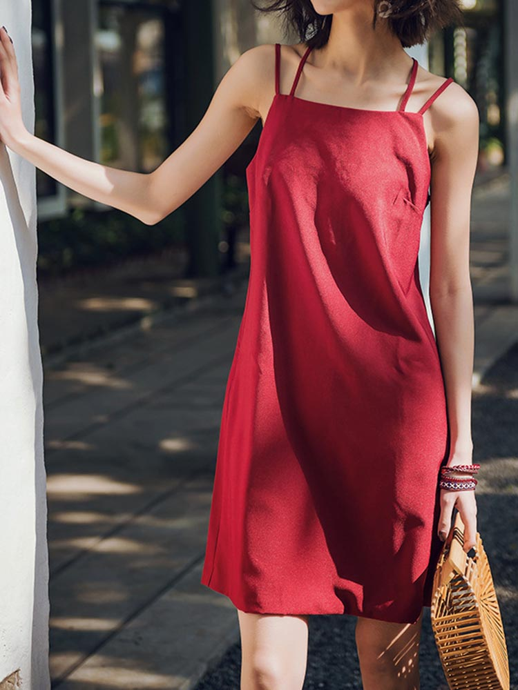 Minimalist Mini Slip Shift Dress