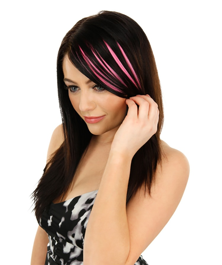 Bright Highlights Clip In Bang Hair Extensions Whatsmode