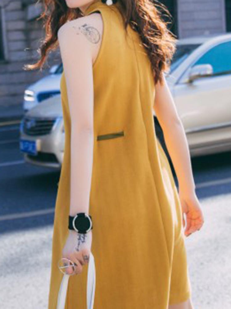 Color Blocking A-line Dress