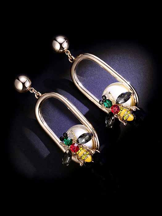 Bee Tasseled Drop Earrings
