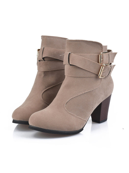 Sexy Cross Bandage Casual High Heel Ankle Boots