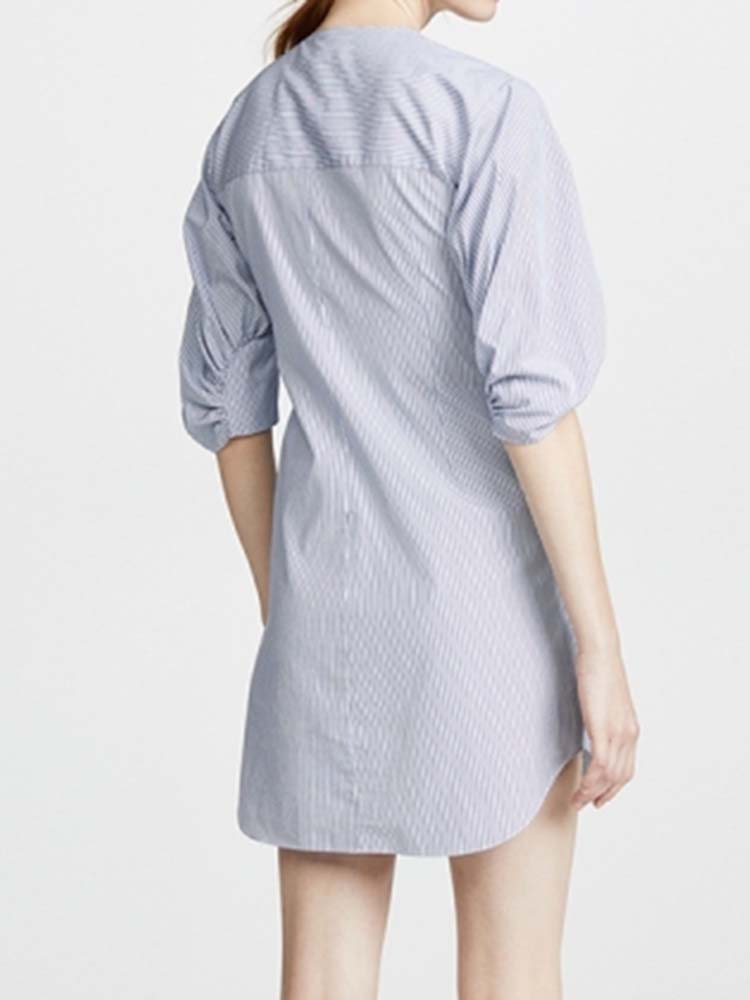 Chic Asymmetric Shirt Dress