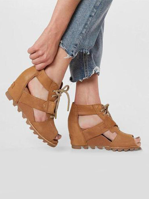 3fa83df3c44 High Slope With Lace-Up Sandals – WhatsMode