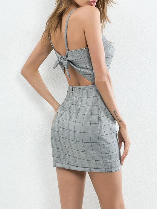 Bow Back Slip Bodycon
