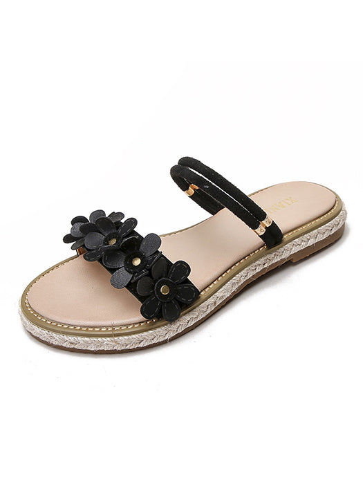 8b798ec8075 Open Toe Floral Summer Sandals – WhatsMode