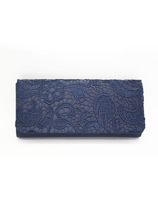 Floral Lace Clutch Bag