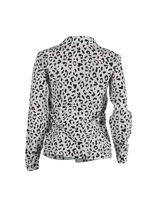 Casual Loose Fashion Leopard Printed Shirt Blouse