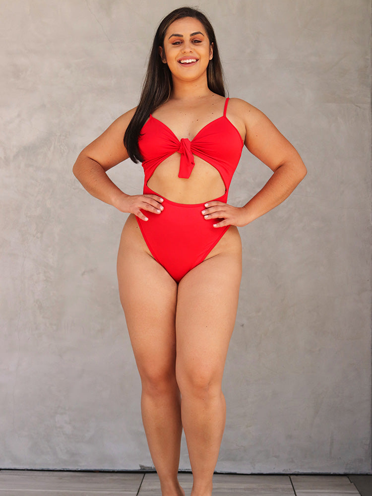 Basic Solid Tie Closure Bikini Set