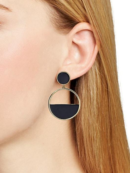 Semi Hollowed Out Hoop Earrings