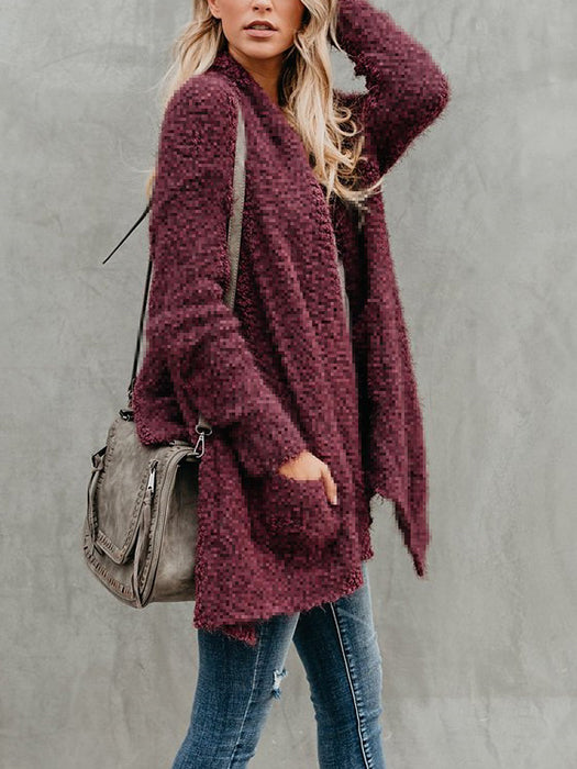 Long Sleeve Casual Plush Cardigan