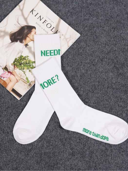 Letter Print Couple Socks