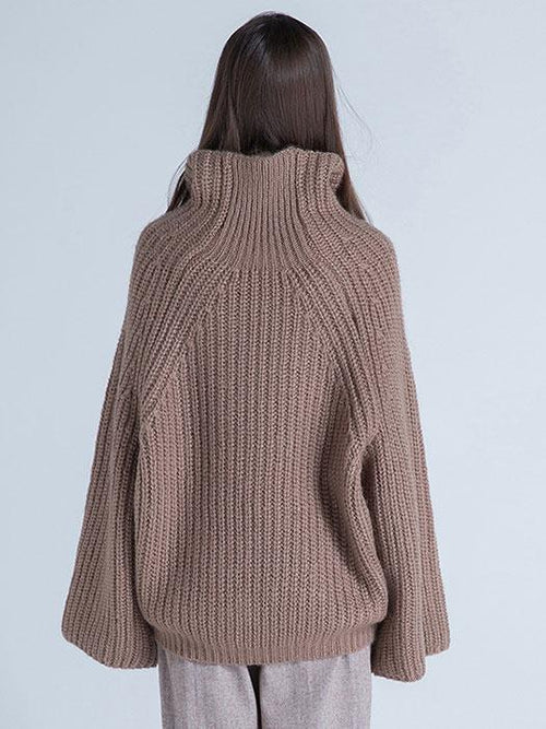 Neat Knit High Collar Autumn Sweater