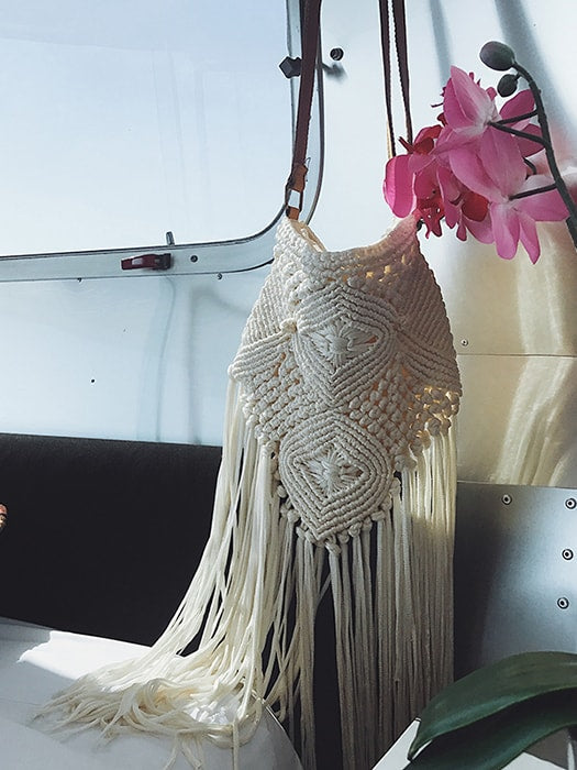 Handwoven Beach Bag with Long Tassels