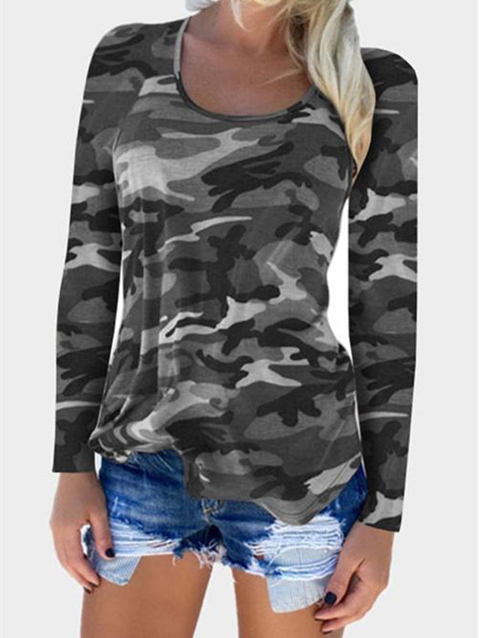 Camouflage Printed Pullover