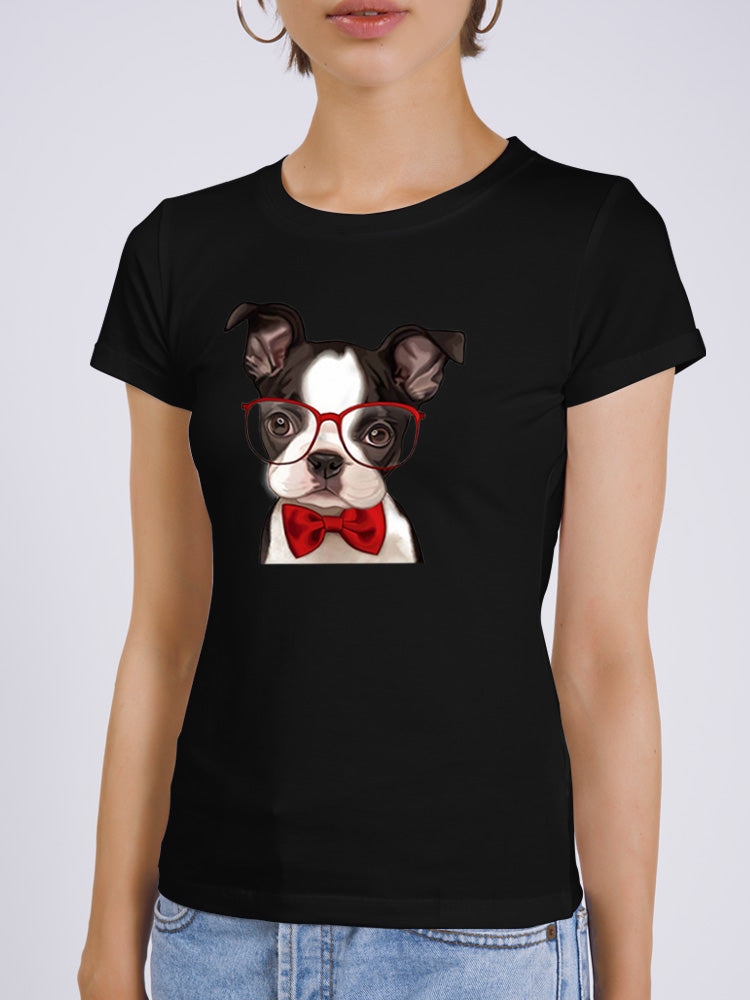 Original Glasses Dog T-shirt