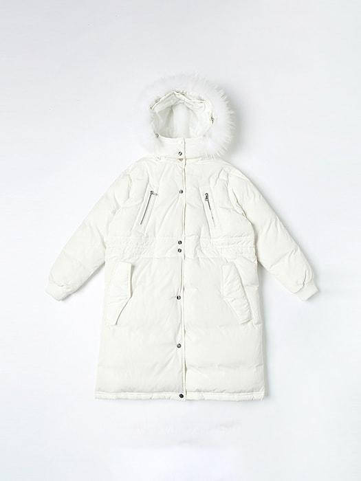 Waisted A-line Down Coat Super Warm