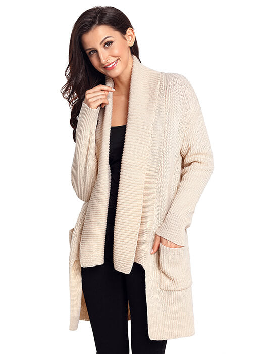 Apricot Comfy Cozy Pocketed Cardigan