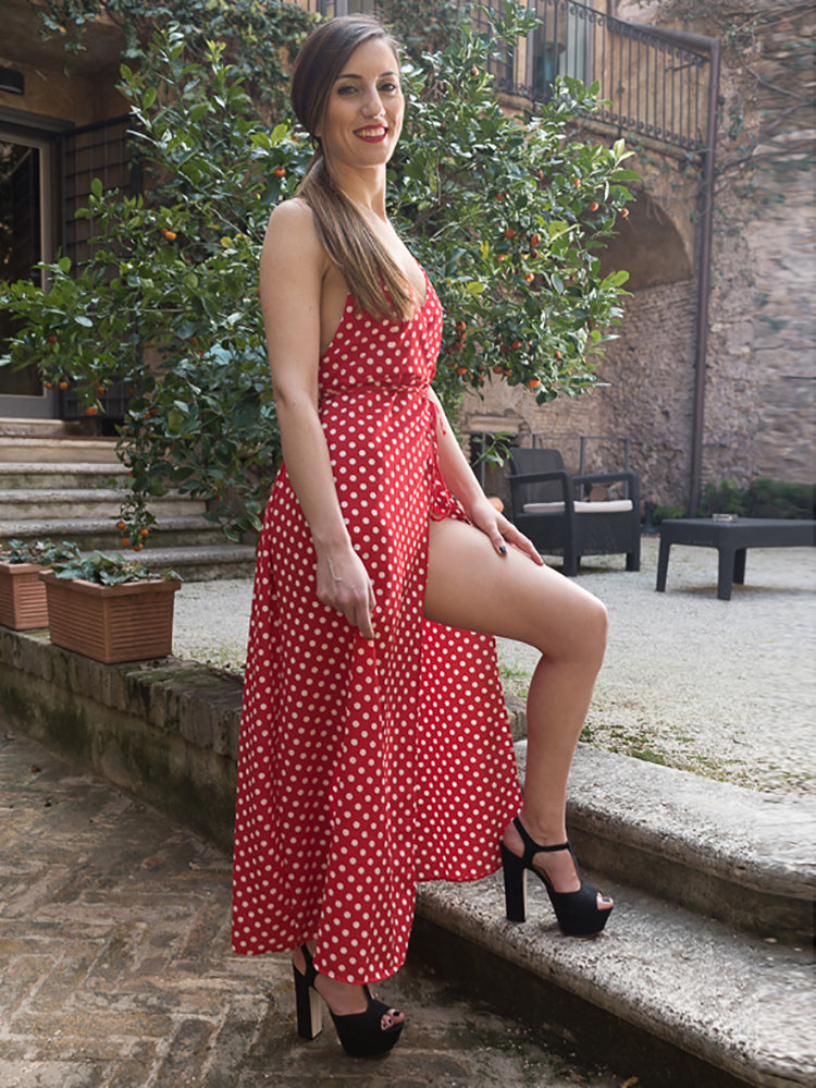 Escape Polka Dot Slip Dress