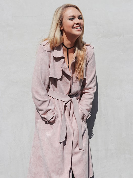 Vintage Capelet Chammy Suede Classic Trench Coat