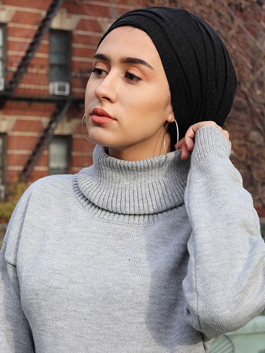 Chunky Roll Neck Front Split Sweater