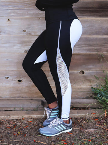 Solid Hollow-out Leggings