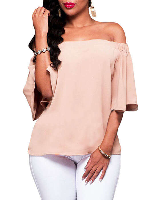 279b537a5ab Pink Off-the-shoulder Top – WhatsMode