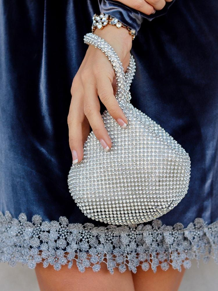 Korean Style Round Skinnydip Glitter Clutch Bag