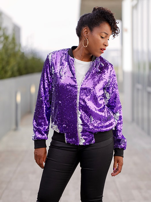 Mermaid Sequined Bomber Jacket