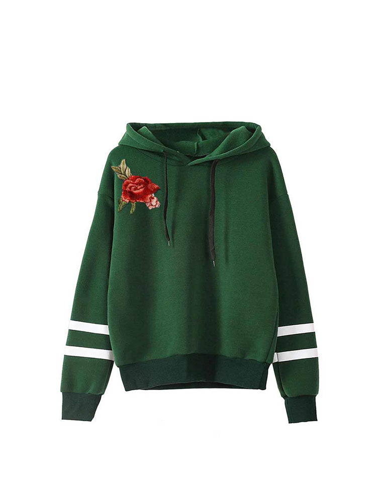 Casual Oversized Embroidery Hoodie