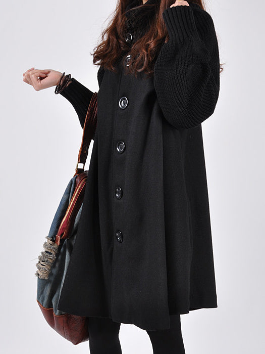 Casual Loose Cotton Bat Overcoat