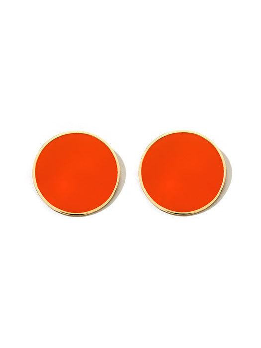 Large Plate Earrings