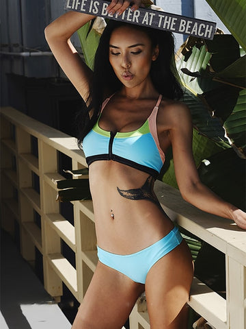 Exquisite Crewwork Cup Strappy Bikini Set