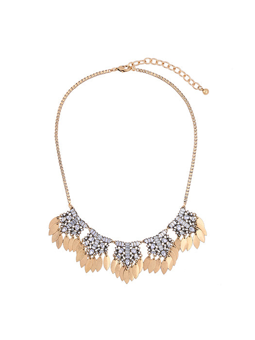 Draped Leaves Statement Necklace