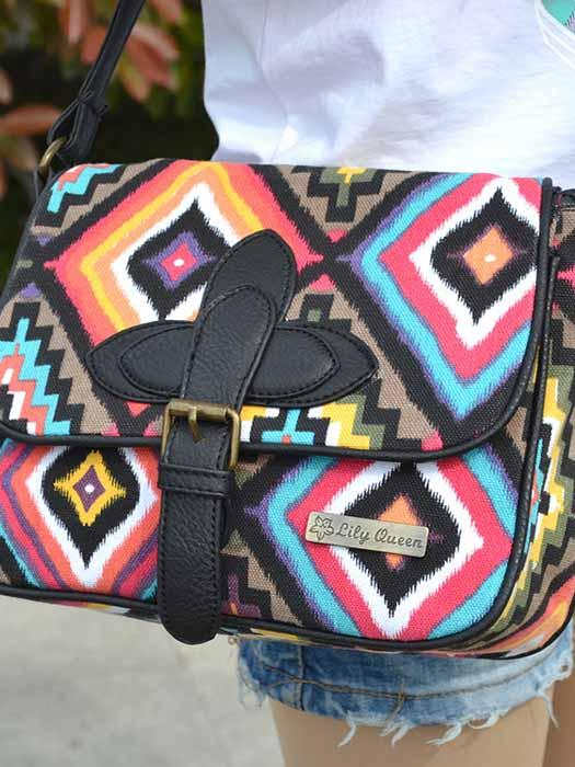 Vintage Cross Body Bags With Print Detail