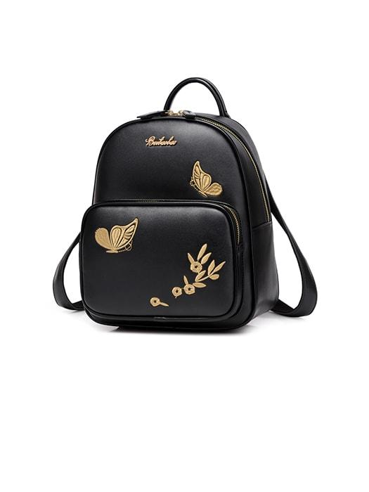 Exquisite Butterfly Embroidery Girl's Backpack