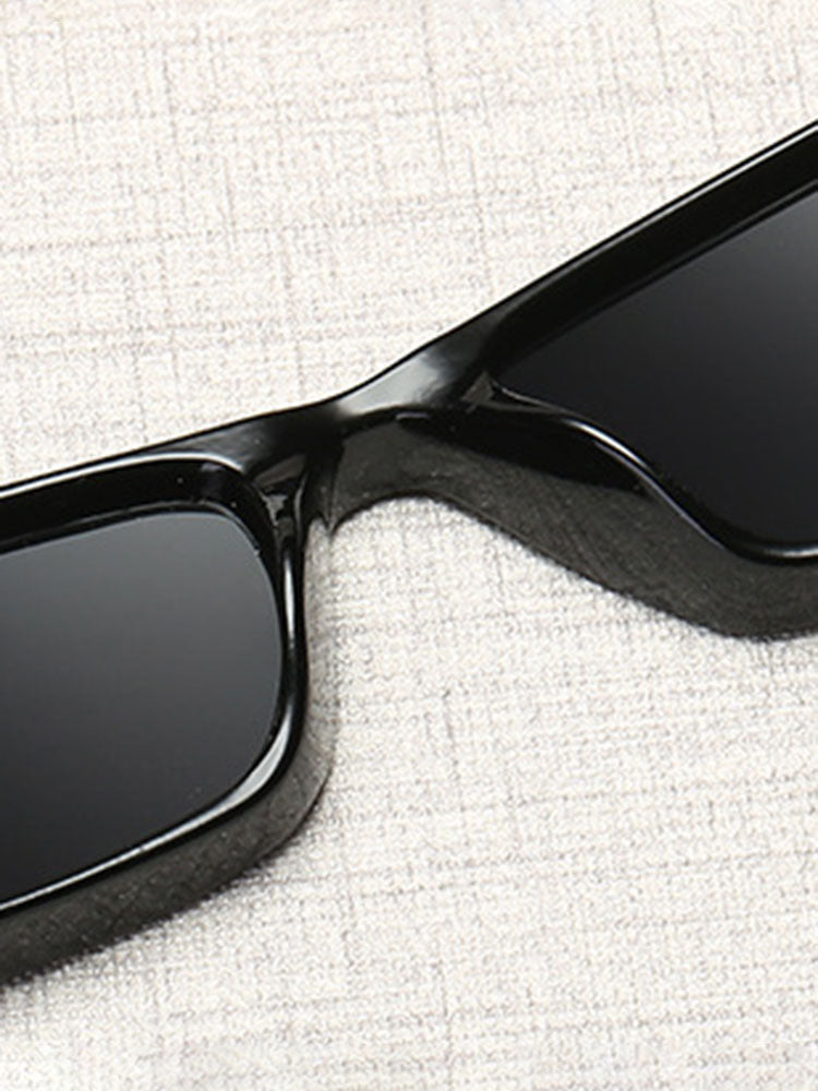 Vintage Thin Rectangular Sunglasses
