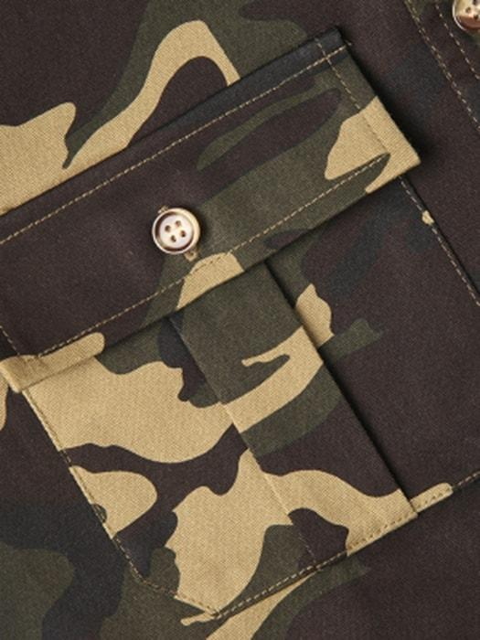 Camouflage Green Two Pockets Contracted Jacket