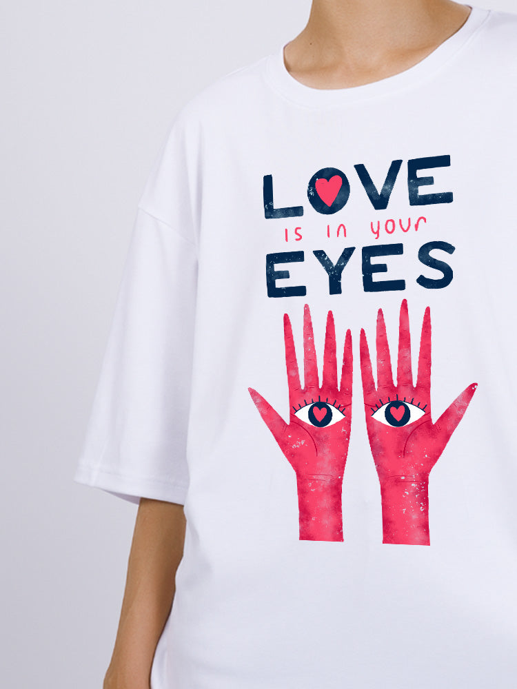 Oversized Hands With Love Eyes Tee