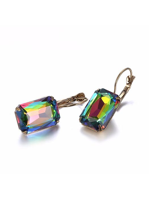 Exquisite Colorful Opal Crystal Earrings