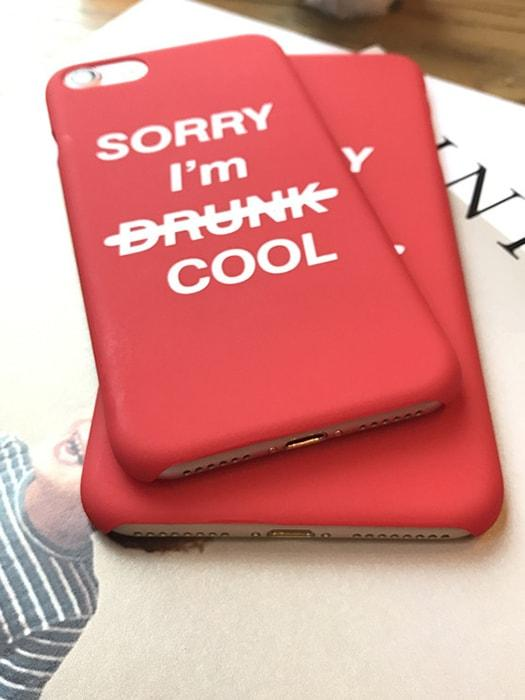 Parody Words Red Phone Case