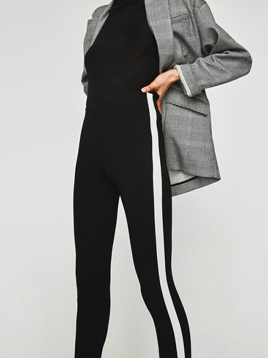 Side Blocked High Waist Skinny Pant