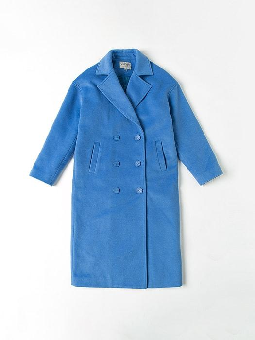 Blazer Double-breasted Blue Reefer Coat