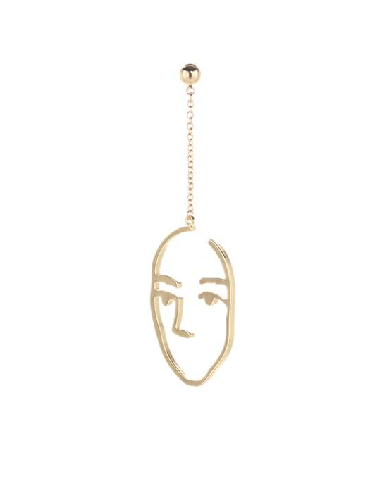 Outlined Face Pendent Earrings