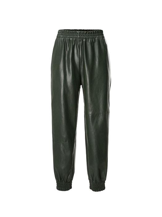 Skinny PU Leather Sweat Pants