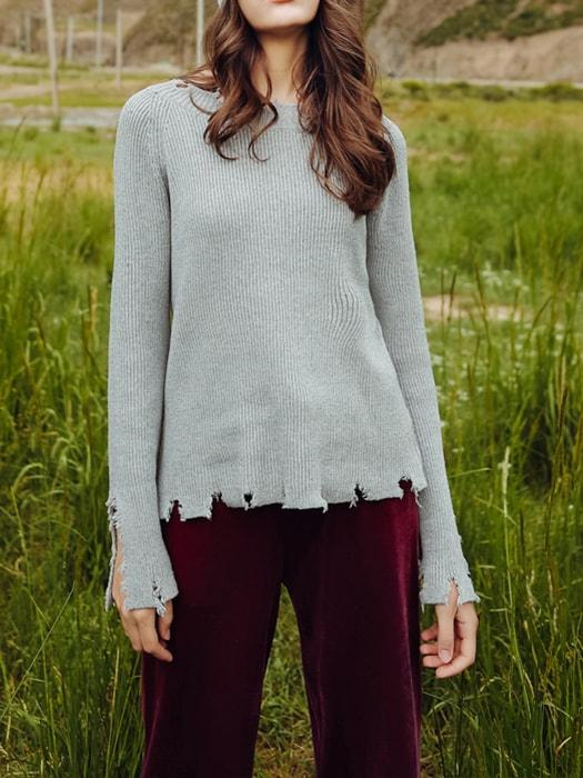 Rips and Splits Hippy Knit Top