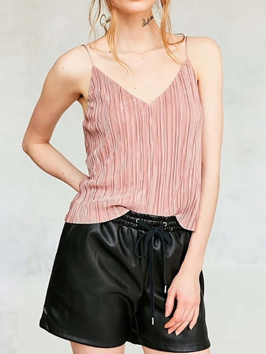 V-neck Cut Out Shoulder Top