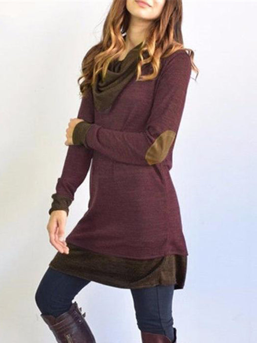 Patchwork Sweater Dress