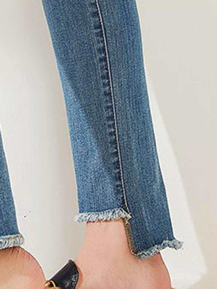 Street Style Distressing Jeans